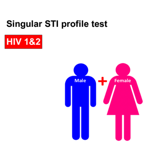 Singular profile STI test - HIV 1 & 2