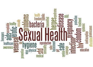 Sexual health wordcloud image